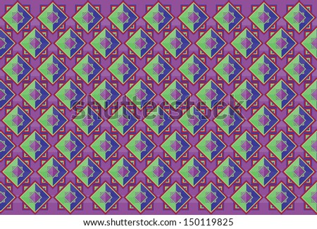 vector javanese batik square pattern on purple