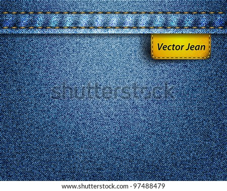 Vector jean fabric - stock vector