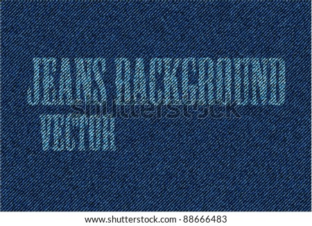 Vector Jeans Background - stock vector