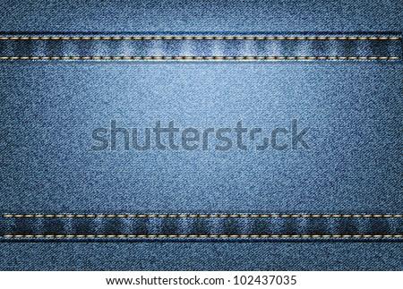 Vector jeans texture - stock vector