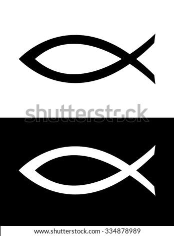 Vector Jesus Fish Icon - stock vector