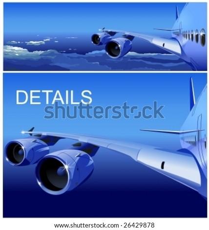 Vector Jet Cruising in the Sky - stock vector