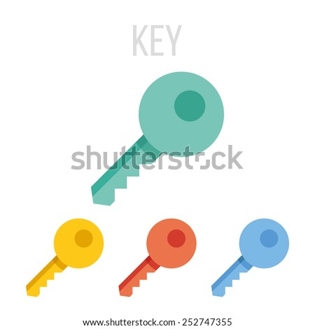 Vector key icons.  - stock vector