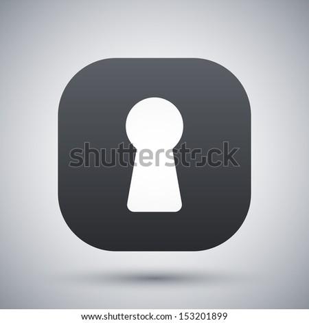 Vector keyhole icon - stock vector