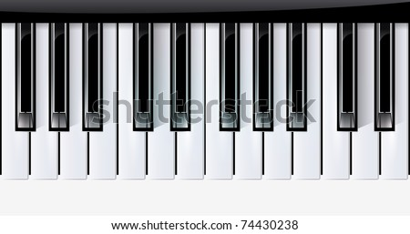 Vector keys piano music instrument. eps10 with transparency - stock vector