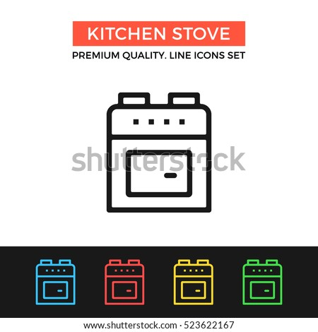 Vector Kitchen Stove Icon. Kitchen Appliances. Premium Quality Graphic  Design. Modern Signs, Part 44