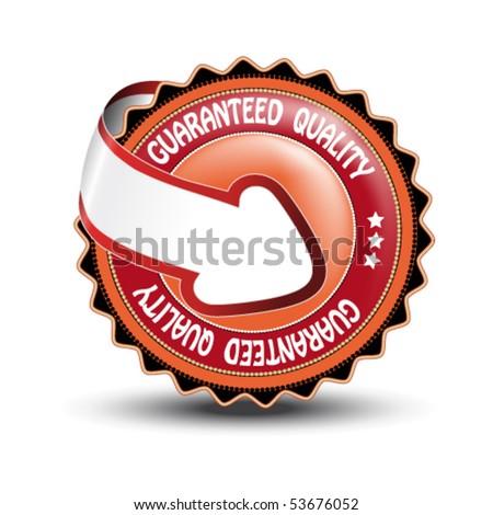 Vector label - guaranteed quality - stock vector