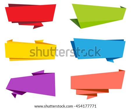 Vector Label Ribbon Banner