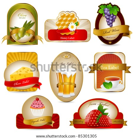 Vector label set - stock vector