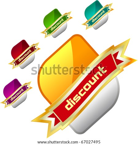 Vector label set for sale - stock vector