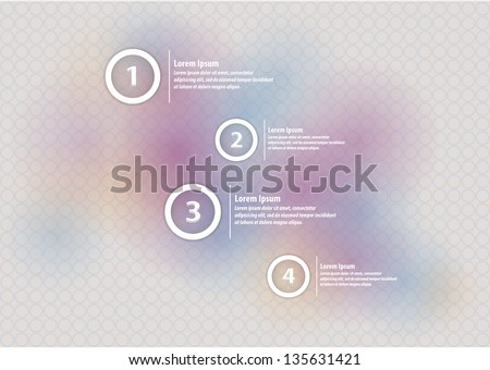 Vector label with presentation and space for your content. Modern, futuristic design. Four labels, variants, choices. - stock vector