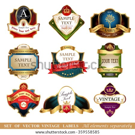 Vector labels and frames.