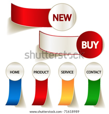 Vector labels for web - stock vector