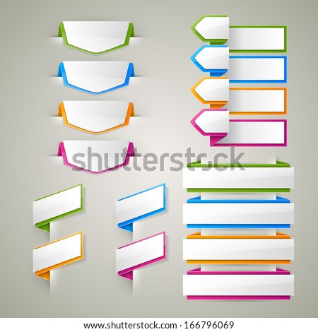 Vector labels set  - stock vector