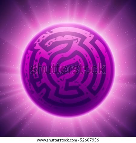 Vector Labyrinth - stock vector