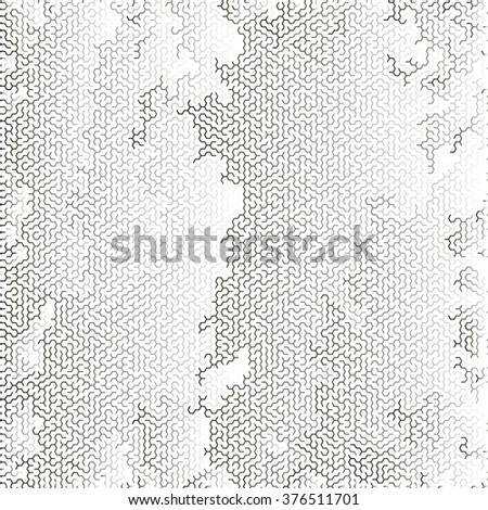 Vector Labyrinth Background. Kids Maze Pattern - stock vector
