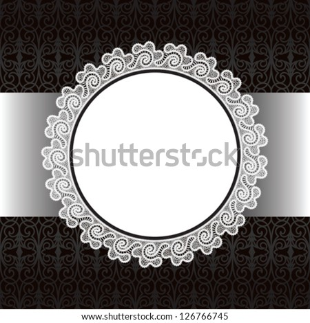 Vector lace background, decorative template for design