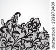 Vector lace ornament - stock vector