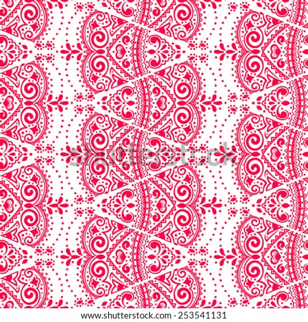 Vector lace seamless ornament for your business