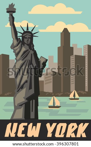 vector landmark and symbol of Freedom and Democracy - stock vector