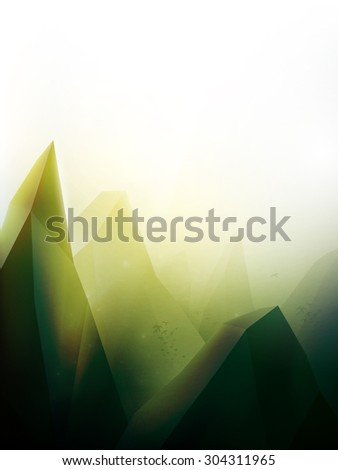 vector landscape illustration - stock vector