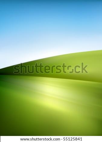 vector landscape illustration - stock vector