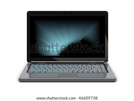 Vector laptop - stock vector