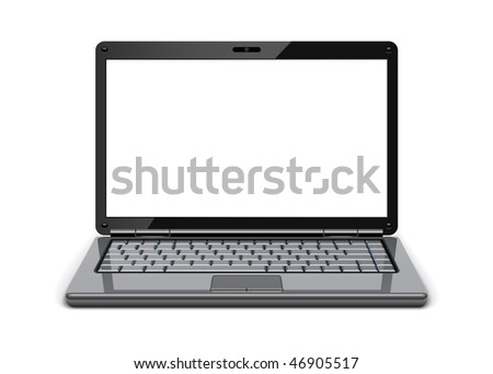 Vector Laptop, for similar images please visit my portfolio - stock vector