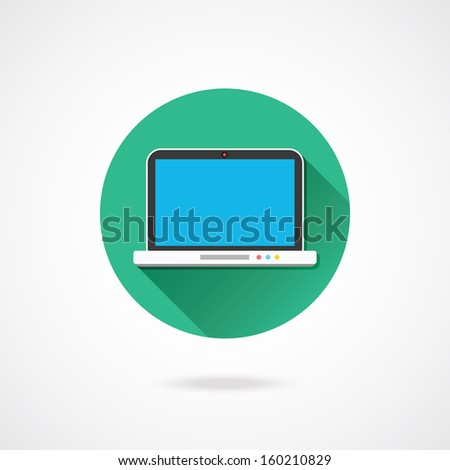 Vector Laptop Icon - stock vector