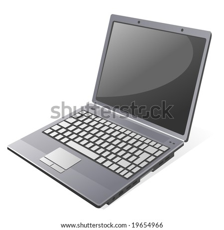 Vector Laptop on white background