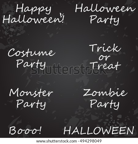 Vector Large collection of typographic Halloween designs and illustrations