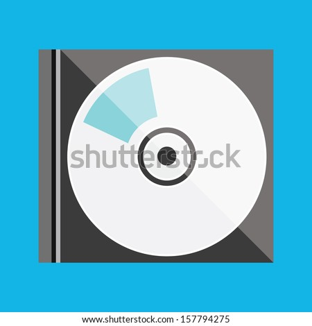 Vector Laser Disk in Box Icon - stock vector