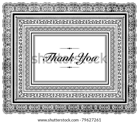 Vector Layered Thank You Frame. Easy to edit. Perfect for invitations or announcements. - stock vector