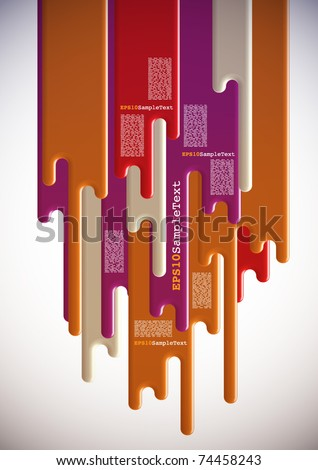 Vector Layout Design on Paint Dripping Background - stock vector