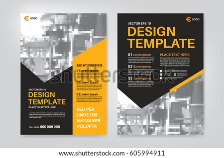 Vector Layout Design Template For Leaflet / Poster / Flyer / Pamphlet /  Brochure With Photo  Pamphlet Layout Template