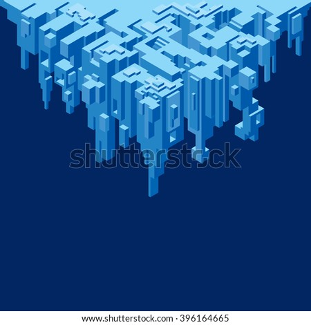 Vector Layout of Abstract Cliff - stock vector