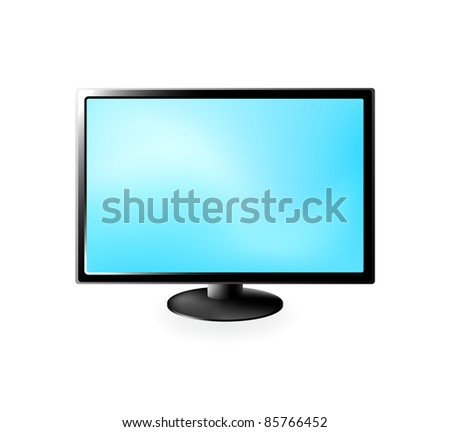 Vector LCD TV isolated on a white background