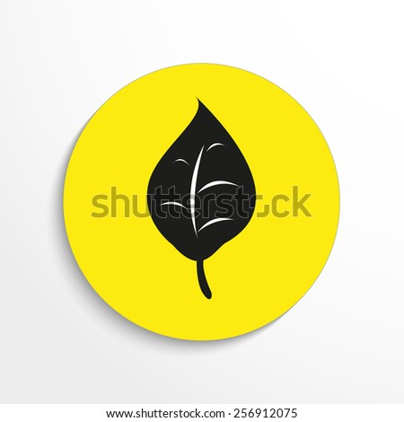 Vector leaf flat web icon. Eps 10. - stock vector