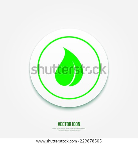 Vector Leaf Icon . Ecology Button