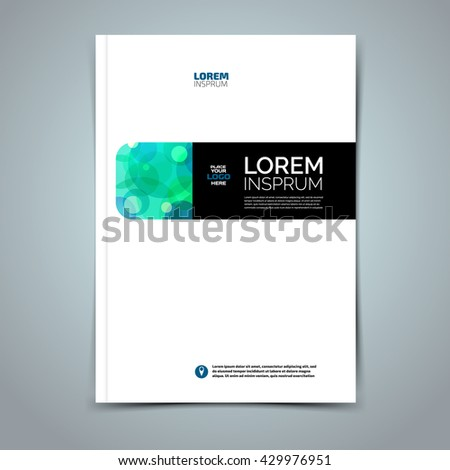 Vector Leaflet Brochure Cover template flat design. Book layout design. Abstract blue presentation templates