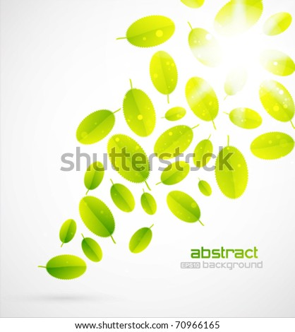 vector leaves background - stock vector