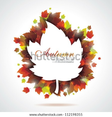 Vector leaves background with copy space. EPS 10 illustration. - stock vector