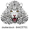 Vector leopard executed in the form of a tattoo - stock vector
