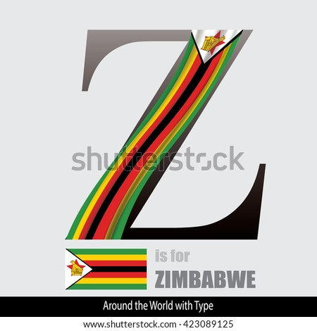 countries with 7 letters in name world alphabetically country flags stock photos royalty 26961 | stock vector vector letter z is for zimbabwe flag design matches letters of the alphabet with name list of 423089125
