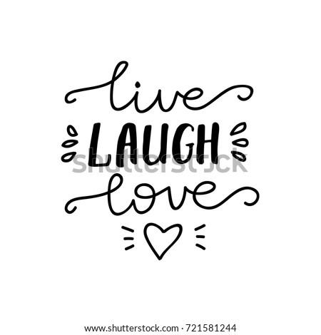 live laugh love in latin writing alphabet