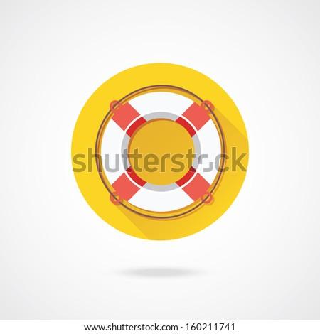 Vector Lifebuoy Icon - stock vector