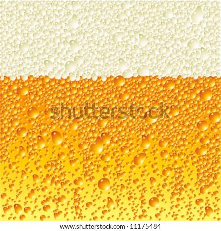Vector light beer texture - stock vector