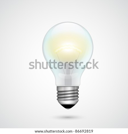 Vector Light Bulb - stock vector