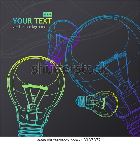 Vector Light bulb background - stock vector