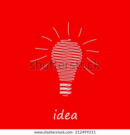 Vector light bulb icon, easy editable - stock vector